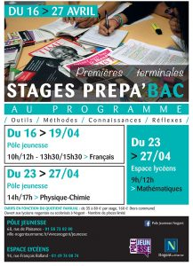 Stages prépa bac