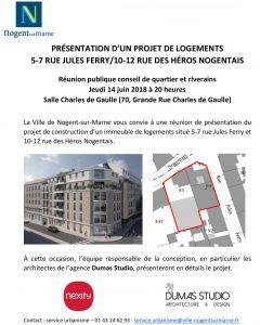projet logements quartier village Nogent-sur-Marne
