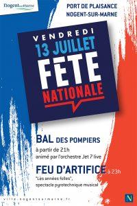 Fête nationale Nogent-sur-Marne 13 juillet 2018