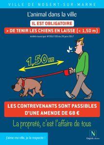 Tenir son chien en laisse à Nogent-sur-marne