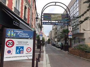 Zone de rencontre 20 km-h grande rue à Nogent-sur-Marne