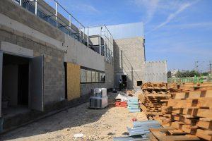 Chantier stadium patio acces sportifs-août 2018 à Nogent-sur-Marne