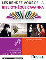 Bib Cavanna programme sept-dec 2019