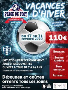 stage de foot-vacances hiver Nogent-sur-Marne