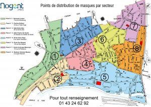 Plan de distribution masques tissu Nogent-sur-Marne