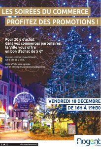 soiree commerces Nogent-sur-Marne 18 dec