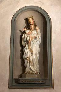 scultpure vierge après restauration Nogent-sur-Marne