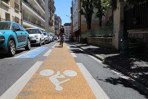 vélo bande rue Emile Zola 2021-Nogent-sur-Marne